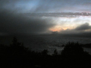Clouds Pass on Monhegan Island in Maine